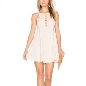 Free People Wherever You Go Mini Dress Lace